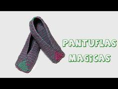 Cómo tejer pantuflas de lana en dos agujas. - YouTube