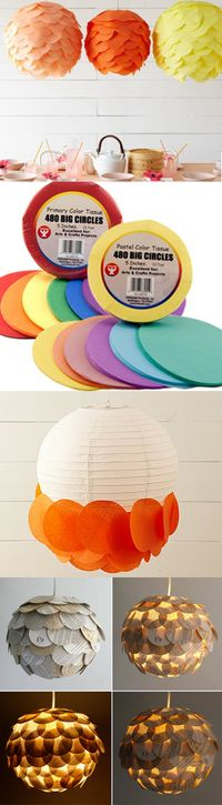 Cute for outdoor party lighting....DIY scalloped lanterns