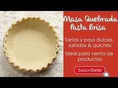Pasta Brisa, Pie Dish, Dishes, Empanadas, Ideas Para, Quiche, Kitchen, Youtube, Recipes