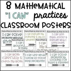 Best 25+ Mathematical practices posters ideas on Pinterest