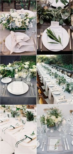 greenery wedding table setting ideas for 2018 #weddingdecor #weddingideas #weddingcolors