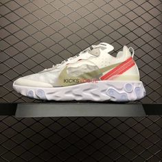 eedfc3593 This sail Nike Epic React 87 coloway features a lighter sail-based style  with light bone and white rush orange to make it pop.