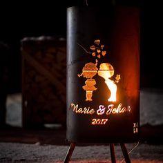 #brazier #exterior #fire #charming #love #firepit #wedding #saintvalentin #couple #surpise #deco #original