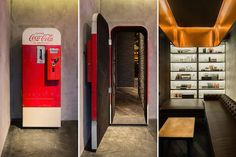 Distributrice Coca-Cola fort inusitée