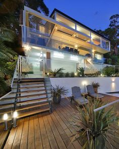Modern house with great patio.