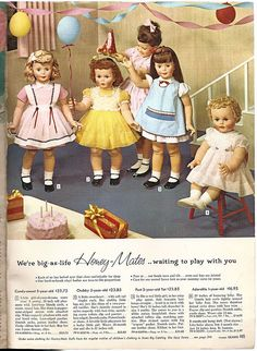 """SEARS 1959 CHRISTMAS BOOK...I had a nightmare like this once...""""We're waiting to play with you!!"""" (que chilling laugh and scary music.)"""