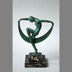 DENIS (MARCEL BOURAINE) - DANSEUSE, NU ART DÉCO - MAX LE VERRIER 1920/1930