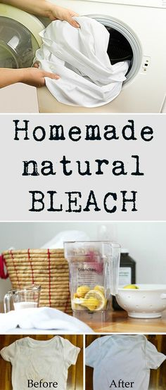 Homemade natural bleach.