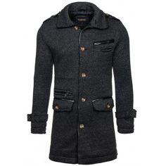 Pánský formální zimní kabát černé barvy - manozo.cz Nike, Coat, Jackets, Fashion, Down Jackets, Moda, Sewing Coat, Fashion Styles, Peacoats