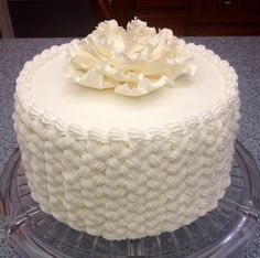 A simple and elegant cake I made for some local church ladies to celebrate a couple of birthdays.