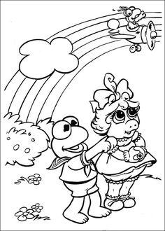 Desenhos para pintar Muppets 24