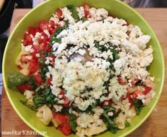 Tomato Basil Pasta Salad. Easy summer dish!