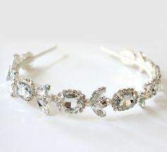 Rhinestones Crystal Headband. Bridal