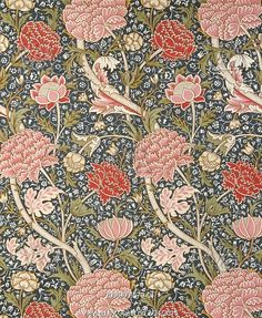 Cray furnishing fabric,  by William Morris. London, England, 1884 William Morris Wallpaper, William Morris Art, Morris Wallpapers, Art Chinois, Art Japonais, Art And Craft Design, Textiles, Needlepoint Canvases, Arts And Crafts Movement