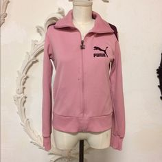 Pink/maron puma, closing shop sale‼️ Pink/maron puma, b-girl, sweat suit jacket, size S. Spot on front, see picture. Puma Jackets & Coats