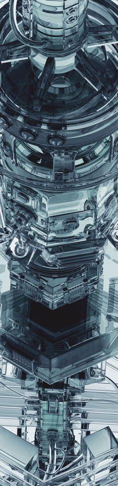 Transparent Machines by Mike Winkelmann, via Behance