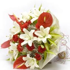 Check out our New Product Queen of my heart Flower Bunches An attractive bunch of 6 white lilies, 5 red anthuriums and 15 red carnations in a matching white wrapping and raffia knot. Elegant Flowers, Beautiful Flowers, Best Online Flowers, Birthday Flower Delivery, Best Gift For Girlfriend, Diwali Greetings, Bunch Of Flowers, Buy Flowers, Bright Flowers