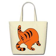 Bags & backpacks ~ Eco-Friendly Cotton Tote ~ Orange Tabby
