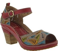 Spring Step L'Artiste Leather Perforated Sandals - Avelle