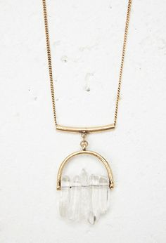 Faux Stone Pendant Necklace | Forever 21 - 1000180607
