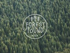 Forest Found brand identity nature natural tree ecological eco branding green brow beautiful minimal mindsparkle mag inspire inspiration www Forest Logo, Forest Art, Magical Forest, Forest Drawing, Forest Painting, Logo Inspiration, Badges, Glamping, Graphic Design Humor