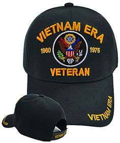 Buy Caps and Hats Vietnam ERA Veteran Emboridered Military Baseball Cap Mens  (ERA Vietnam ERA Veteran Hat 1960 1975 AND Bumper Sticker set by Buy Caps  and ... 77143e16bd43