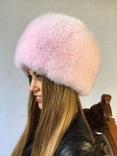 8b0d9fdbd99 Arctic Fox Fur Hat Baby Pink Full Fur Saga Furs Round Hat 700287608264