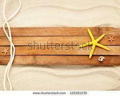 Few marine items on a wooden boards against sandy background. #marine #ocean #sea #stockphoto