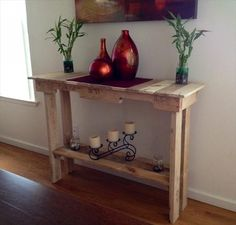 DIY Pallet Side Table Plans   Recycled Pallet Ideas