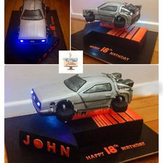DeLorean Gravity Cake  - Cake by thecakeaddiks