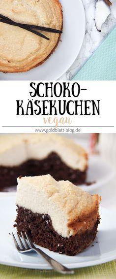 Veganer Schoko-Kokos-Käsekuchen