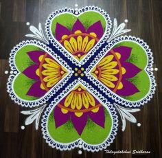 Colour Rangoli, New Year Rangoli, Diya Rangoli, Lakshmi Images, Beautiful Rangoli Designs, Flower Decorations, Hearts, Cushions, Flowers