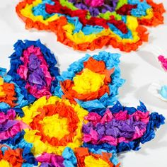 Arty Crafty Kids | Craft | Colourful Tissue Paper Flower Kids Craft