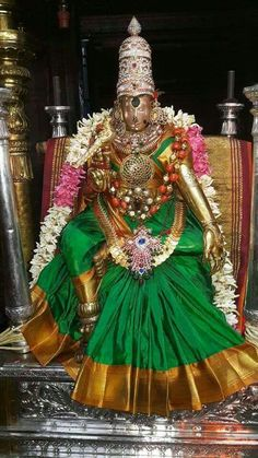 MADURAI MEENAKSHI AMMAN DECORATED WITH ONE LAKH GLASS ...