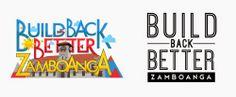 Build Back Better Zamboanga Logo Studies by csz97