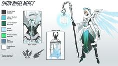 In the spirit of the season, I created a winter skin concpet for Overwatch's Mercy based on the original character concept art by Arnold Tsang.
