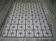 New Handmade Block Print Area Rug Hand Woven Rug Runner Cotton Carpet Woven Rug, Kilim Rugs, Rug Runner, Rugs On Carpet, Hand Weaving, Area Rugs, Floral, Cotton, Handmade