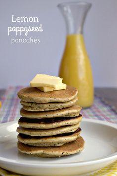 Paleo Lemon Poppyseed Pancakes by Plaid & Paleo. #paleo
