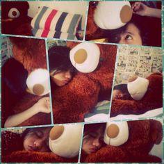 Ilove sleep with mawonderfull bear, GIANT :)