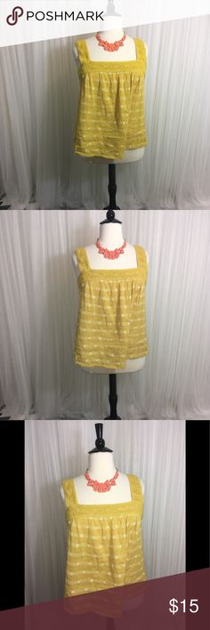 XXL Old Navy Summer Top Mellow Yellow is what pops on my head 😃 Summer Ready Top.  Has white details embroidered like patterns. XXL NWT Tops Blouses