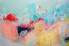 """""""Ready"""" by Claire Desjardins. 40""""x60"""" - Acrylics on canvas."""