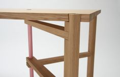 RCA graduate Tomas Alonso A frame tables. Functional furniture