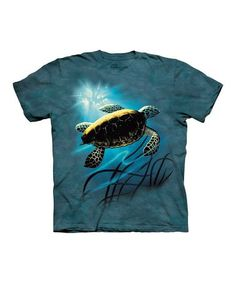 7e22d745c The Mountain Blue Green Sea Turtle Sublimated Tee - Toddler & Kids