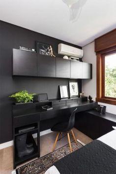 Bedroom Setup, Room Design Bedroom, Home Room Design, Small Room Design, Study Room Design, Small Bedroom Designs, Bedroom Decor, House Design, Home Office Setup