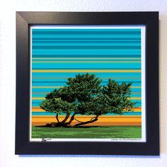 "Gallery: Pop series ""Sunset at La Jolla"" (2015)  12 x 12 inch, Digital art - Giclee print on enhanced matte paper.  14 x 14 inch, frame - Stain black and glass.  ---------------------------------- #art #artist #digitalart #popart #popartist #contemporary #contemporaryart #sandiegoart #sandiegoartist #sunset #tree #lajolla #lajollacove #localartist #california #jonsavagegallery"