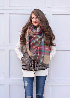 Friday Fashion Inspiration-Blanket Scarf