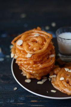 Instant Jalebi- 30 minute Quick Jalebi(Eggless Indian funnel cake)
