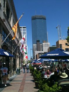 Minneapolis - Nicollet Mall - a block from where we live. Minneapolis St Paul, Minnesota, Mall, Times Square, Street View, Places, Travel, Beautiful, Live