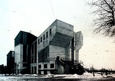 the ruskov workers club, moscow, russia. konstantin melnikov, 1929