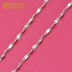 Moonlon 925 sterling silver chain necklace-CXL0009 Wholesale price: USD3-4.86/piece (depends on order quantity) Shop link: http://preview.alibaba.com/product/60371904304-800921611/Nickle_Free_925_Sterling_Silver_Snow_Flower_Etched_Chain_Necklace.html  Length: 450mm/ 15.6inch Width: 1.95mm Material: 925 sterling silver Weight: 3.44-3.66g OEM is acceptable. Contact: aimee@moonlon.com Website: www.moonlon.com http://moonlon.en.alibaba.com